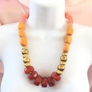 Jewelry - Chunky Wood Acrylic Beads Necklace